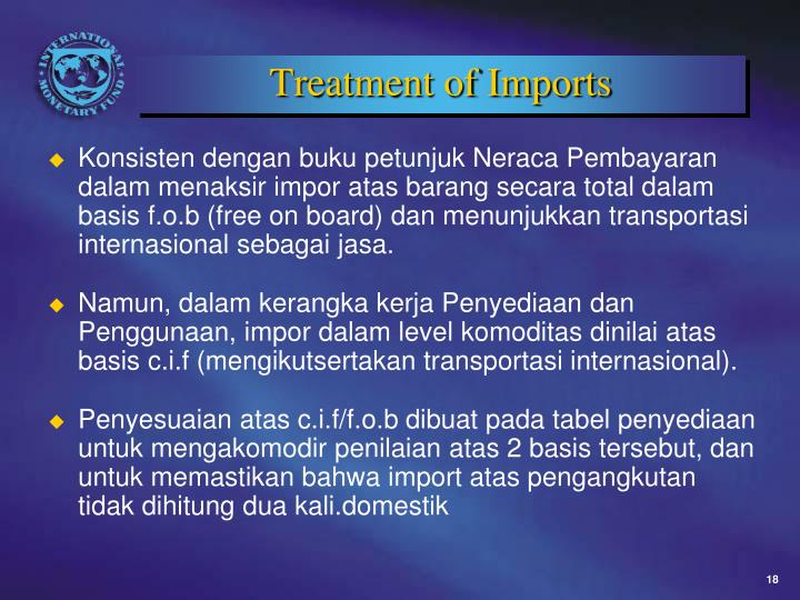 Treatment of Imports