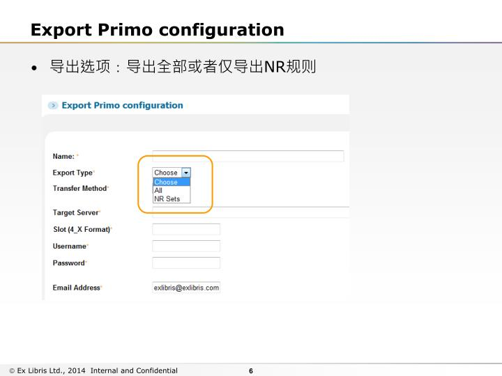 Export Primo