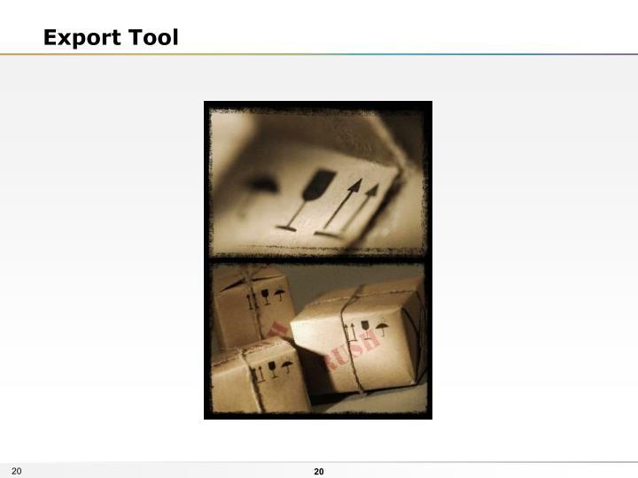 Export Tool