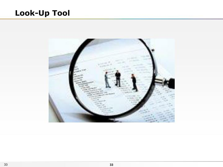 Look-Up Tool