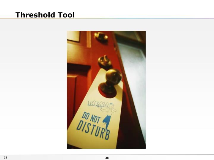 Threshold Tool