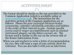 activities sheet1
