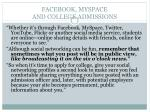 facebook myspace and college admissions2