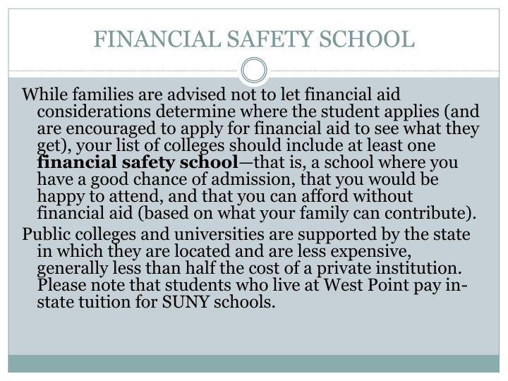 FINANCIAL SAFETY SCHOOL