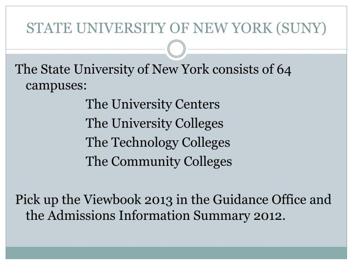 STATE UNIVERSITY OF NEW YORK (SUNY)
