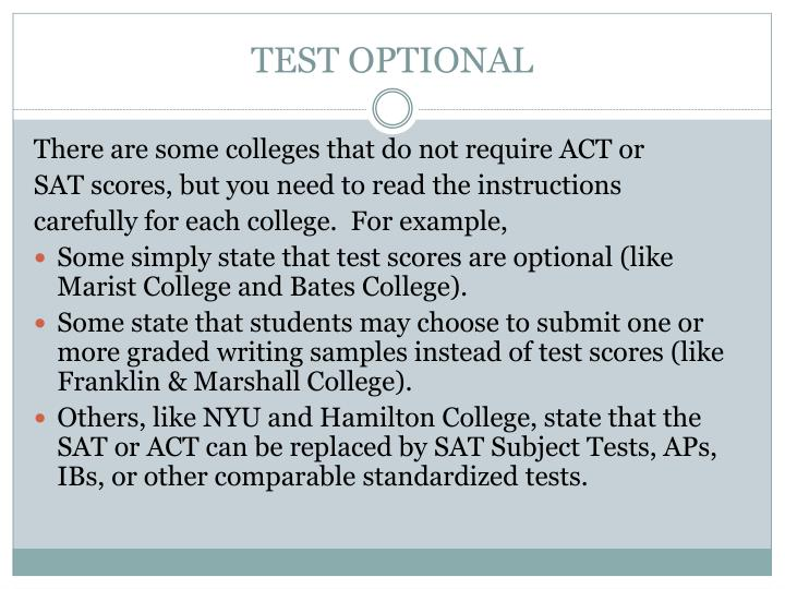 TEST OPTIONAL