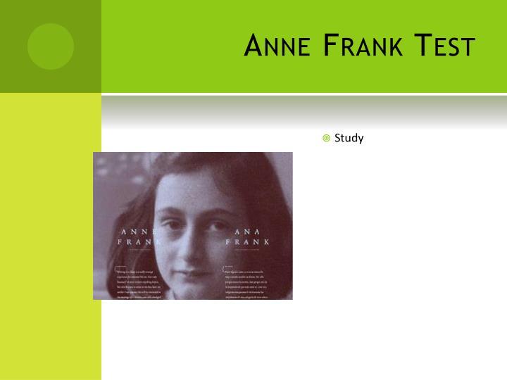 Anne Frank Test