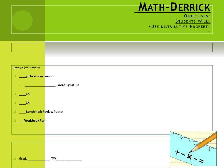 Math-Derrick