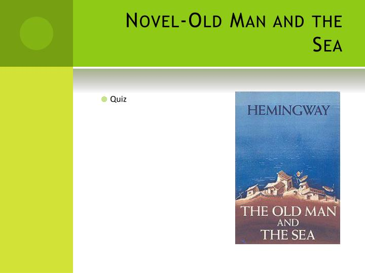 Novel-Old Man and the Sea