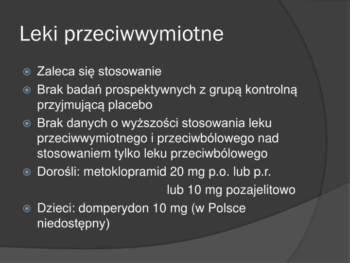 Leki przeciwwymiotne