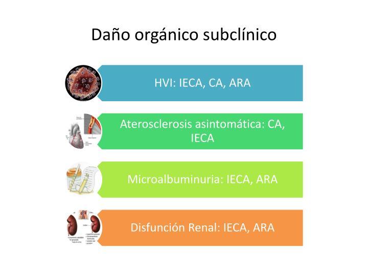 Daño orgánico subclínico