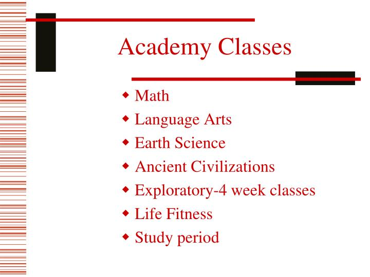 Academy Classes