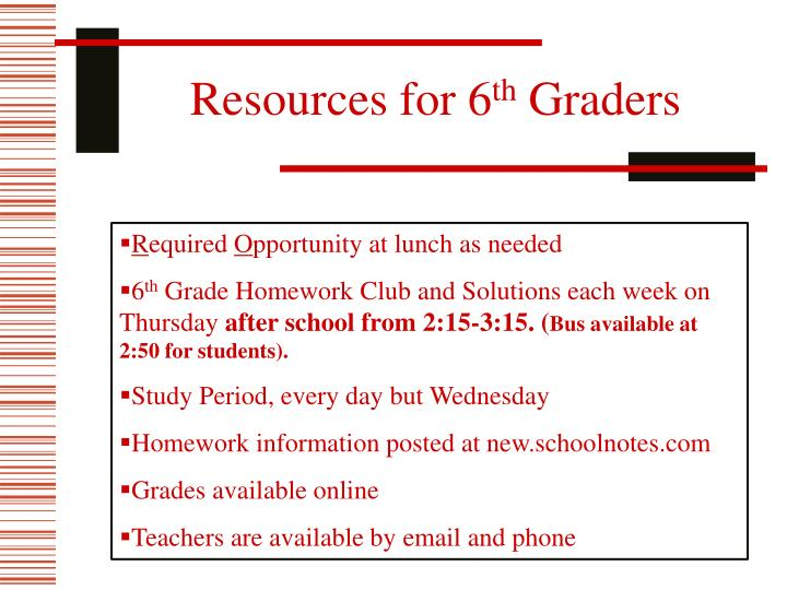 Resources for 6