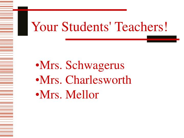 Your Students' Teachers!