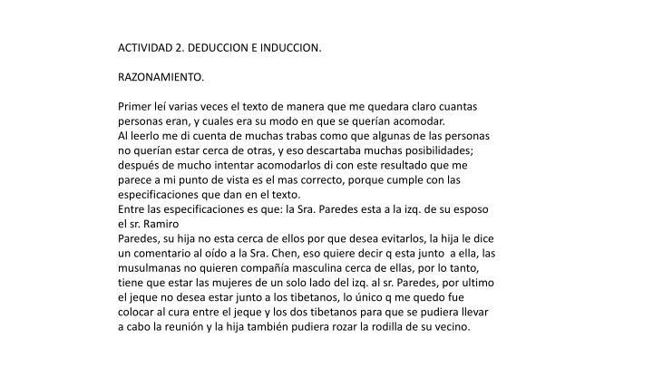 ACTIVIDAD 2. DEDUCCION E INDUCCION.