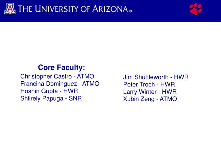 Core Faculty: