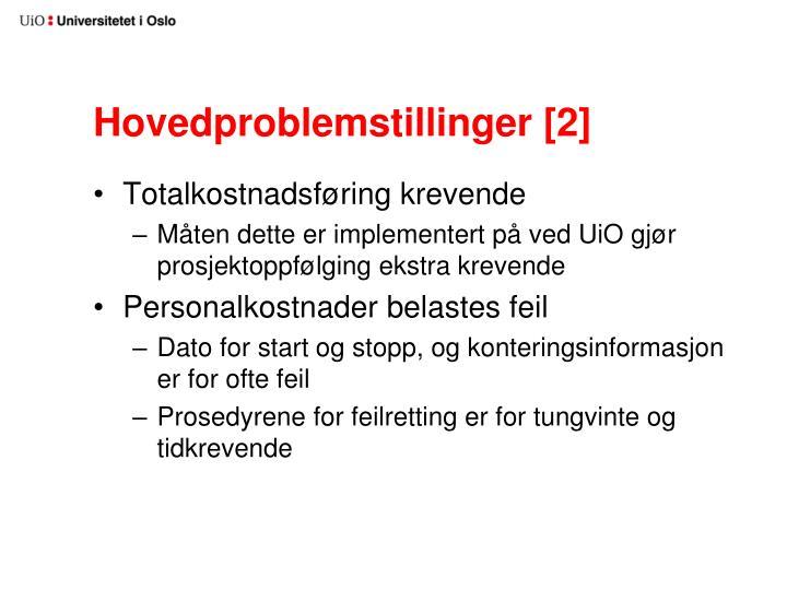 Hovedproblemstillinger [2]