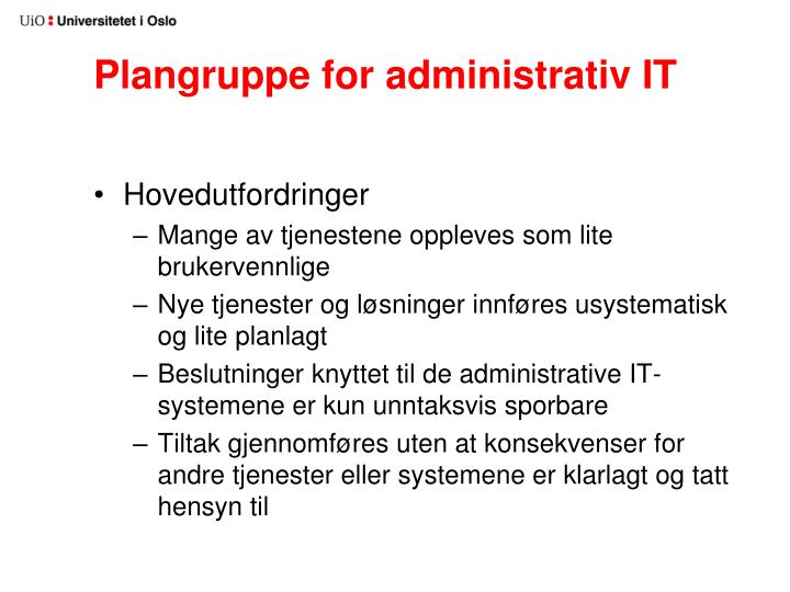 Plangruppe for administrativ IT