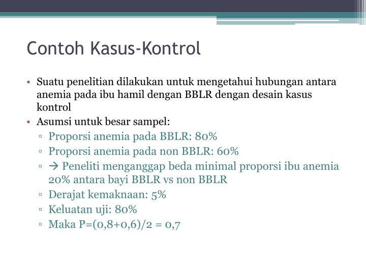 Contoh Kasus-Kontrol