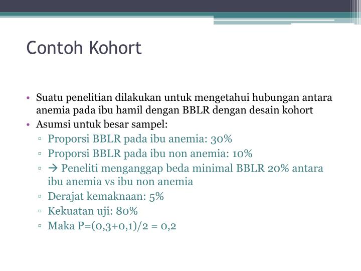 Contoh Kohort