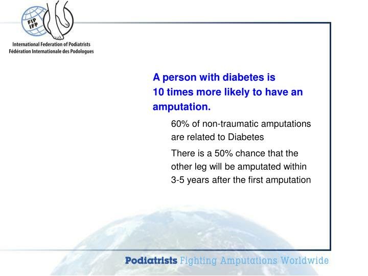 A person with diabetes