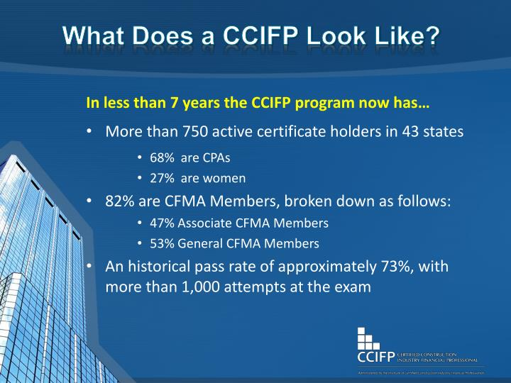 What Does a CCIFP Look Like?