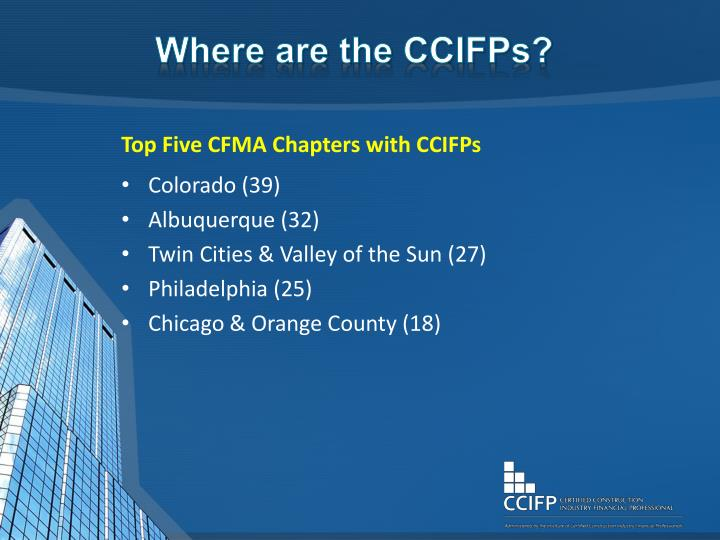 Where are the CCIFPs?
