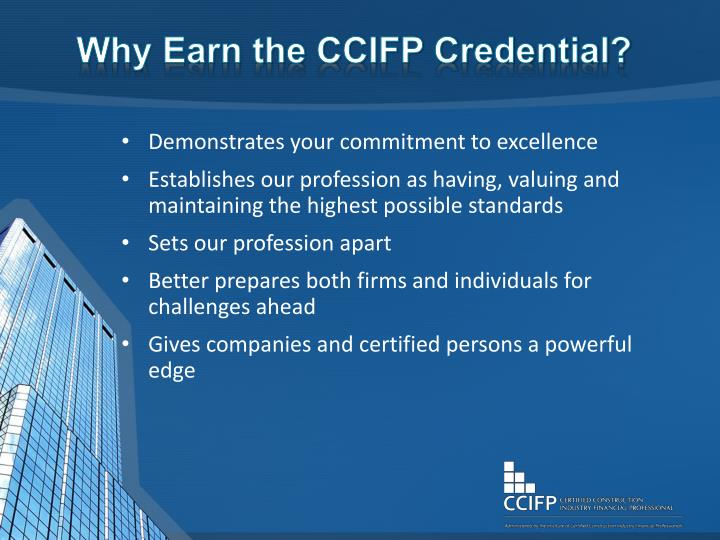 Why earn the ccifp credential