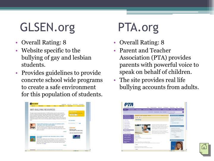 GLSEN.org            PTA.org