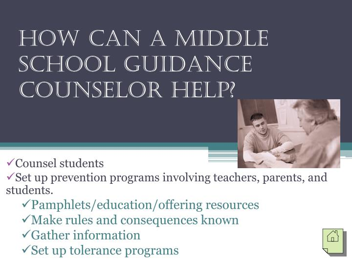 How Can a Middle School Guidance Counselor Help?