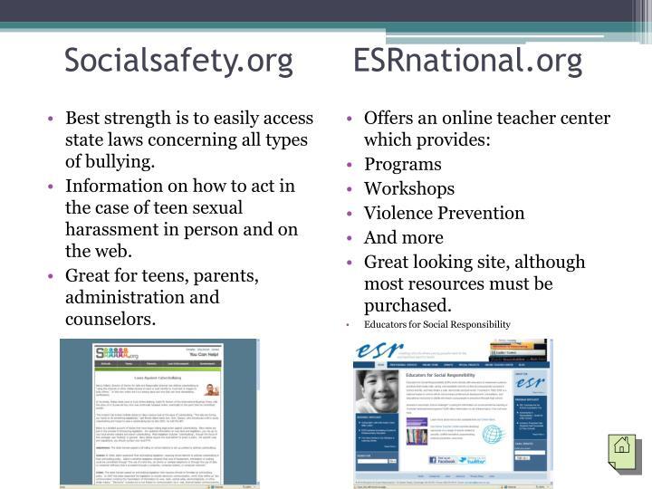 Socialsafety.org      ESRnational.org