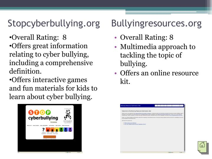 Stopcyberbullying.org    Bullyingresources.org