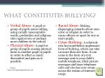 what constitutes bullying