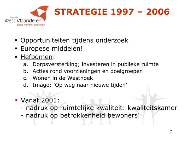 STRATEGIE 1997 – 2006