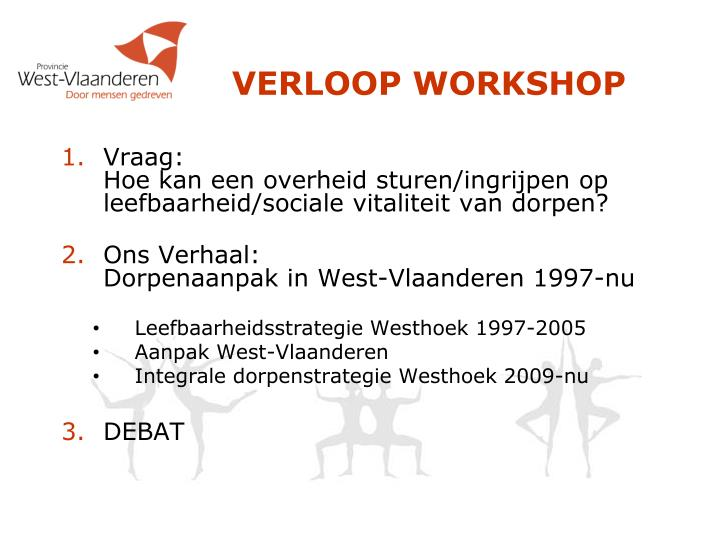 Verloop workshop