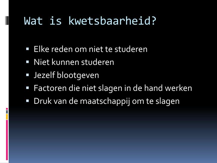 Wat is kwetsbaarheid