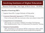 involving institutes of higher education
