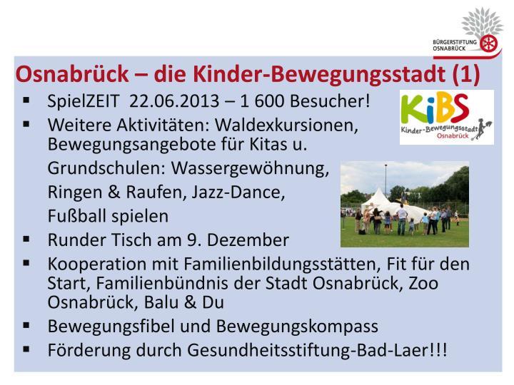 Osnabrück – die Kinder-Bewegungsstadt (1)