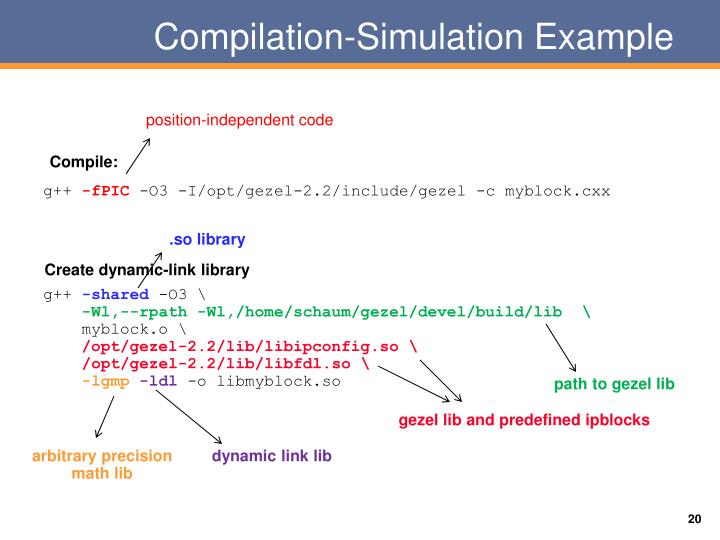 Compilation-Simulation Example