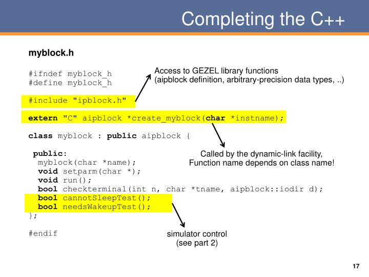 Completing the C++