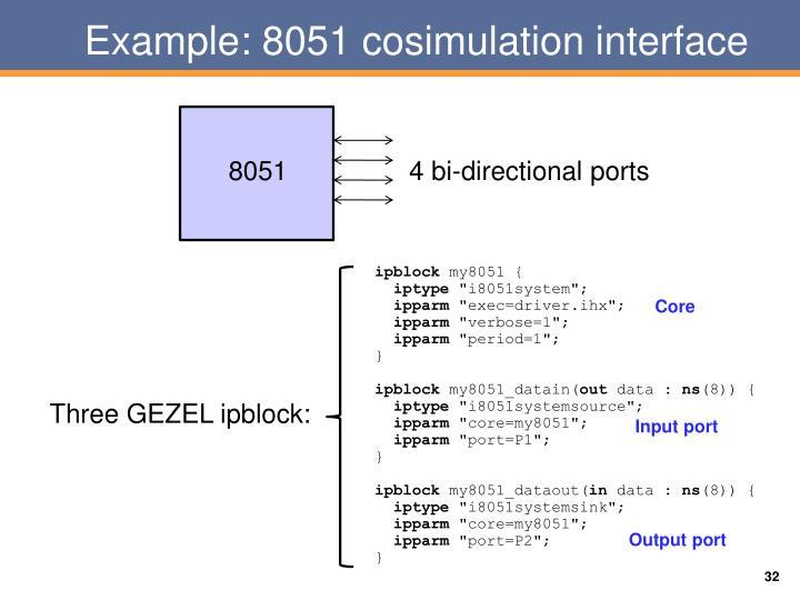 Example: 8051