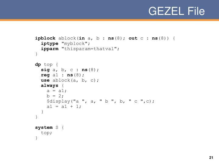 GEZEL File