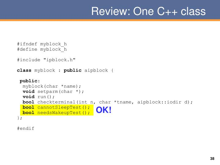 Review: One C++ class