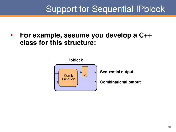 Support for Sequential
