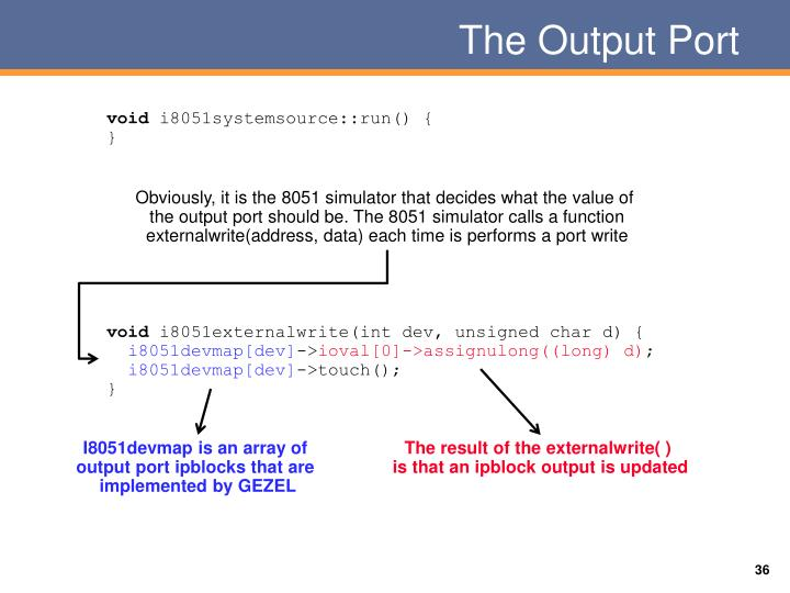 The Output Port