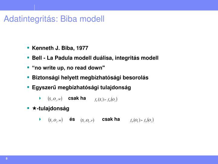 Adatintegritás: Biba modell
