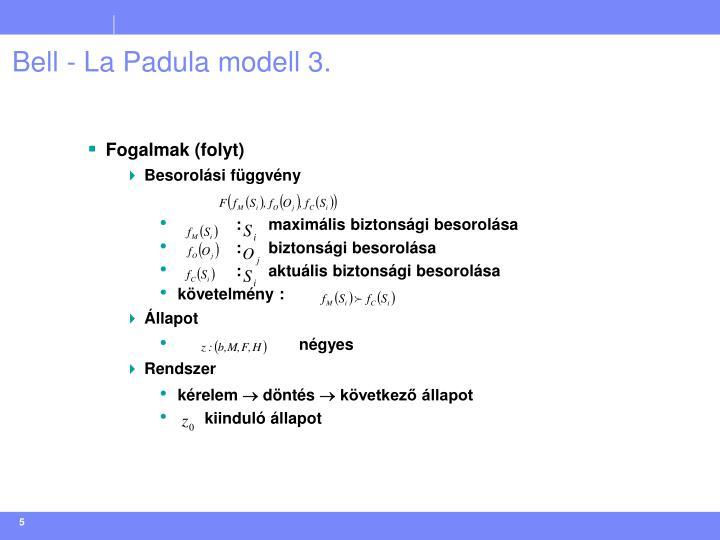 Bell - La Padula modell 3.