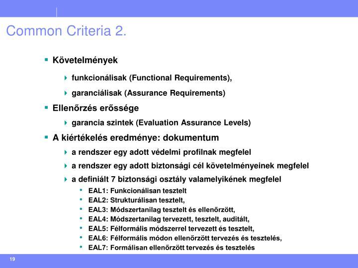 Common Criteria 2.