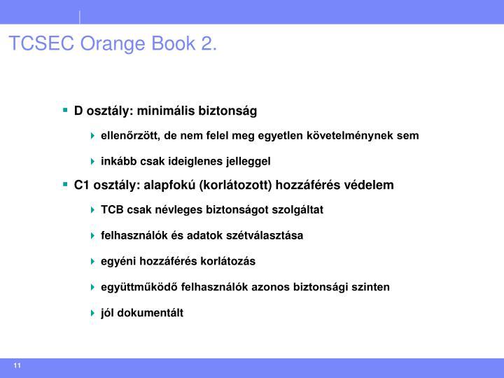TCSEC Orange Book 2.