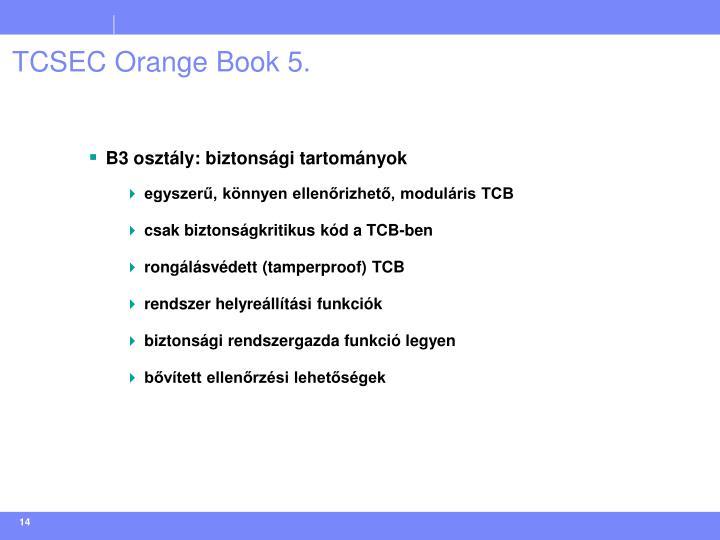 TCSEC Orange Book 5.